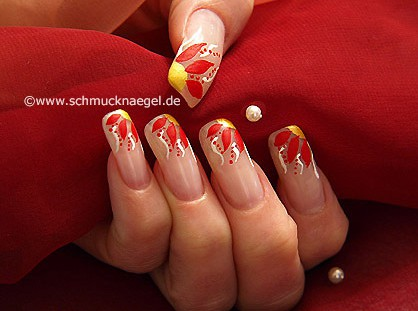 Flower motif for the fingernails