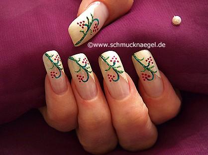 Fingernail design step by step