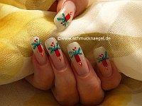 Advent decoration for the fingernails