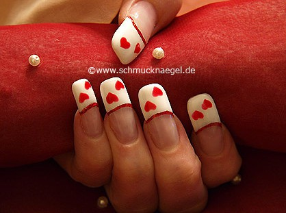 Valentine's Day motif with colour gel