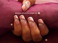 Nail art motif with 3D nail sticker
