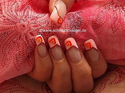 Fingernail motif with fimo fruit