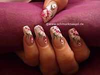 Flower motif with acrylics