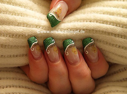 Easter motif with nail tattoo and nail art liner