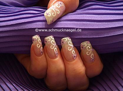 3D flower sticker to decorate the fingernails
