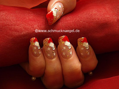 Fingernail Christmas motif with Santa Claus sticker