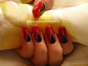 Zipper as nail art decoration