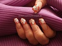 Nail art star shapes and acrylic