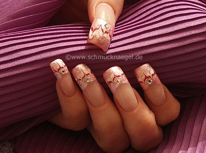 Pink french motif with spot-swirl