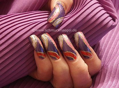 The colorful nail art motif