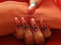 Full cover nail design in old-pink