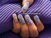 Flores secas para decorar las uñas