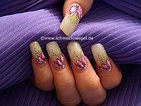 Astillas de concha del mar para uñas decoradas