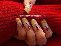 Diseño con cometa en uñas artificiales