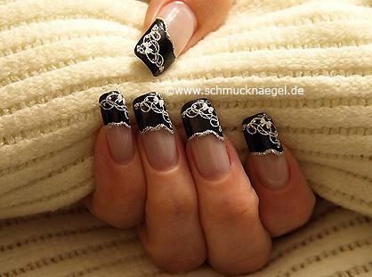 Nail art pegatina para manicura francesa