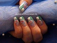 Motivo acuario para decoración de uñas