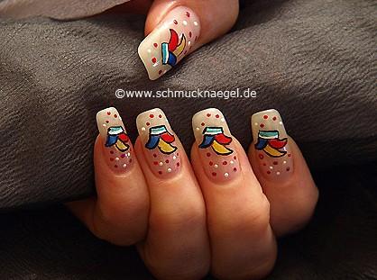 Sombrero de carnaval para decoración de uñas