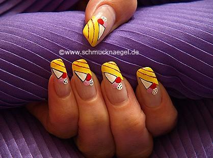 Cucurucho de helado diseño para uñas