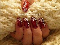 Purpurina para uñas en oro y perlas medias