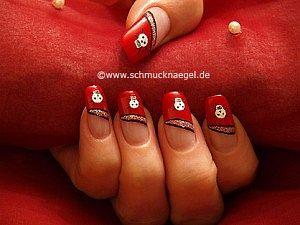 Halloween calavera motivo de uñas