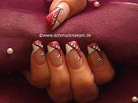 Purpurina para uñas en plata y piedra strass
