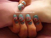 Motivo arco iris con mariposa de fimo