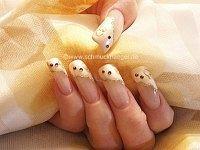 Boda en uñas francesas