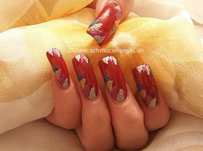 Purpurina uñas en multicolor