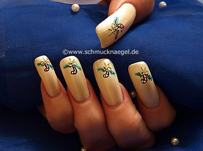 Decoracion de navidad para uñas