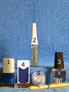 Produkte für das Motiv quadratische Strasssteine auf Fingernägel - Nagellack, Nailart Liner, French Maniküre Schablonen, quadratische Strasssteine, Spot-Swirl, Klarlack