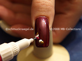 Nailart Pen in der Farbe rot