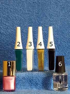 Produkte für die Oster Blume als Fingernagel Motiv - Nagellack, Nailart Liner, Klarlack