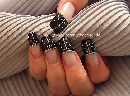 Domino French Motiv für die Fingernägel