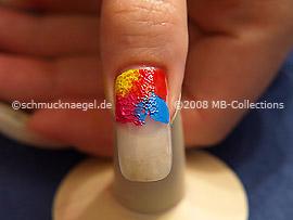Kleiner Schwamm mit den Acrylfarben