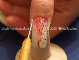 Glitter-Pulver in silber und Spot-Swirl