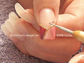 Klarlack, Spot-Swirl und Strasssteine in der Farbe rosa