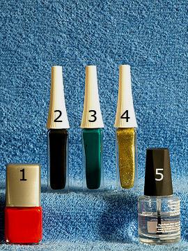 Produkte für das Nailart 'Halloween Kürbis als Fingernagel Motiv' - Nagellack, Nailart Liner, Klarlack