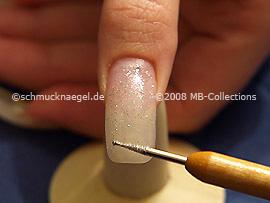 Glitter-Pulver und Spot-Swirl
