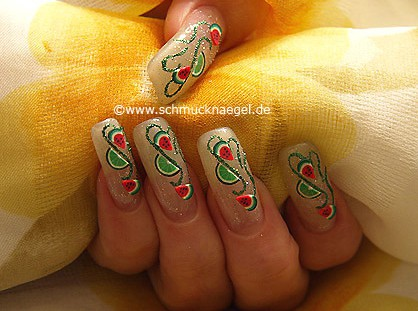 Fimo-Früchte für die Fingernagel dekoration