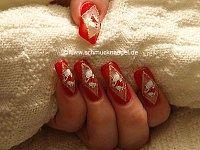 Weihnachtsmann Motiv für die Fingernägel