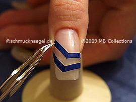 French Maniküre Schablonen V-förmig und die Pinzette