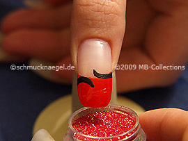 Glitter-Pulver in rot