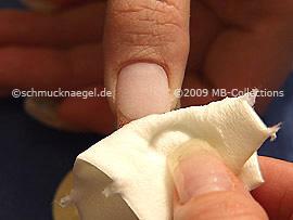 Zellstoff-Tupfer und Reiniger zum Entfernen der Schwitzschicht