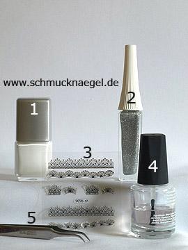 Produkte für das Motiv '3D Sticker mit Strasssteinen' - Nagellack, Nailart Liner, 3D Nail Sticker