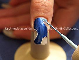 Nailart Liner in der Farbe türkis
