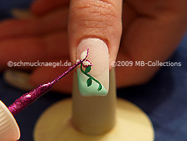 Nailart Liner in der Farbe pink-glitter