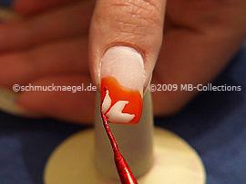 Nailart Liner in der Farbe rot-glitter