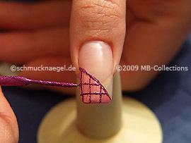 Nailart Liner in der Farbe pink-glitter