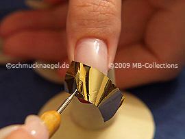 Metallic-Folie und Spot-Swirl