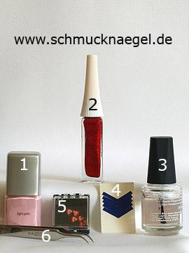Produkte für das fingernagel Motiv mit Fimo-Frucht - Nagellack, Nailart Liner, French Maniküre Schablonen, Fimo-Früchte